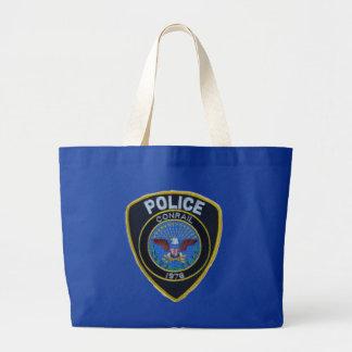 Conrail Railroad Police Patch Jumbo Tote Bag