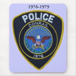 Conrail Railroad Police Patch Mousepad