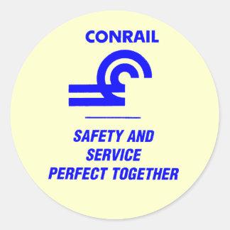 Conrail Safety and Service Round Sticker