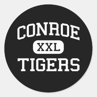 Conroe - Tigers - High School - Conroe Texas Classic Round Sticker