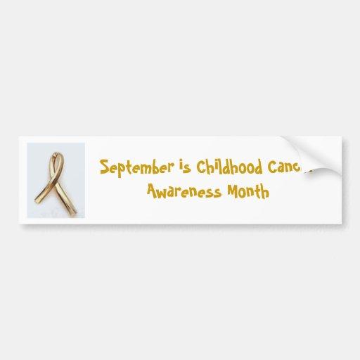 Conscience de Cancer d'enfance Autocollant Pour Voiture