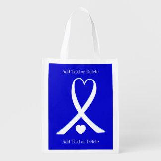 Conscience de Cancer - épicerie, cadeau, sac de Sac Réutilisable D'épcierie