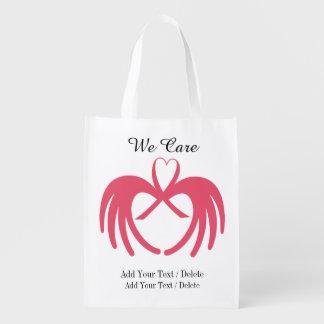 Conscience de Cancer - épicerie, cadeau, sac de Sacs D'épicerie Réutilisables