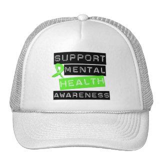 Conscience de santé mentale de soutien casquettes
