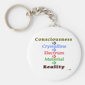 Consciousness-Reality Basic Round Button Keychain