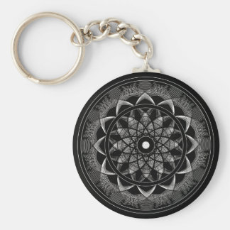 Consciousness - Sacred Geometry Mandala Basic Round Button Keychain