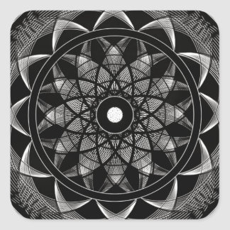 Consciousness - Sacred Geometry Mandala Square Sticker