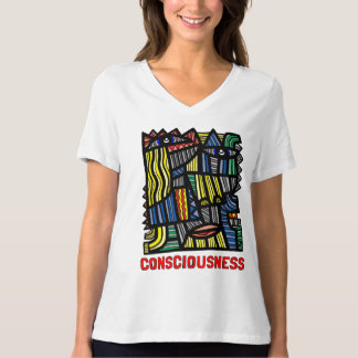 """Consciousness"" Women's Relaxed Fit V-Neck T-Shirt"
