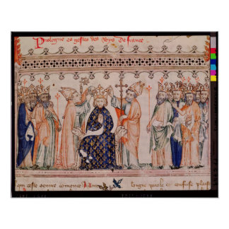 Consecration Philippe III le Hardi King of Poster