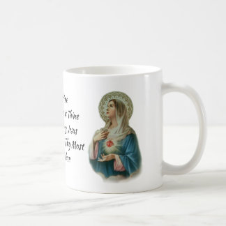 Consecration to Jesus through Mary Prayer Coffee Mug