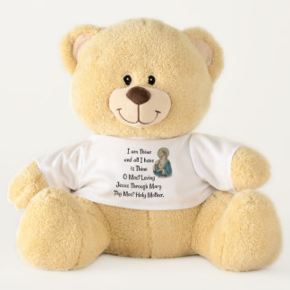 Consecration to Jesus through Mary Prayer Devotion Teddy Bear
