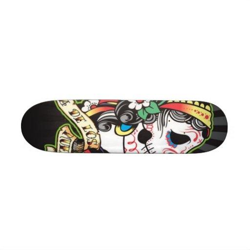 Conseil de Dia de los Muertos Skate Planches À Roulettes Customisées