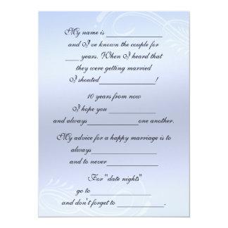 Conseil mignon et drôle de mariage pour la jeune carton d'invitation  13,97 cm x 19,05 cm