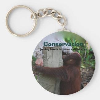 Conservation Basic Round Button Keychain