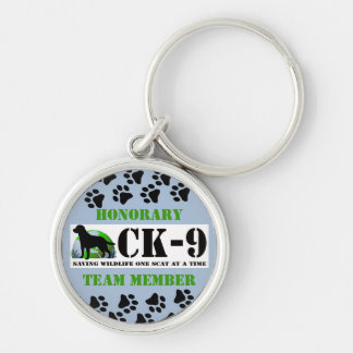 Conservation Canines Gear Silver-Colored Round Keychain