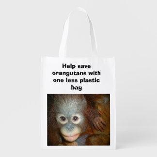 Conservation Endangered Species Orangutans Market Tote