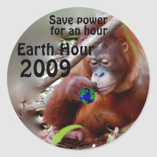 Conservation Every Hour Classic Round Sticker