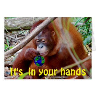 Conservation - in Your Hands Card