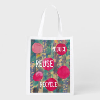 Conservation Message Reusable Grocery Bag