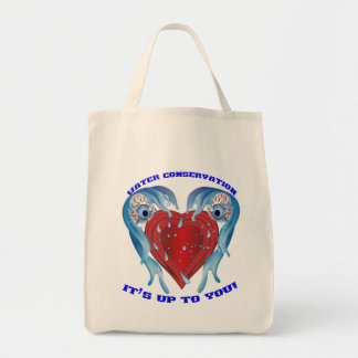 Conservation Water logo Grocery Tote Bag