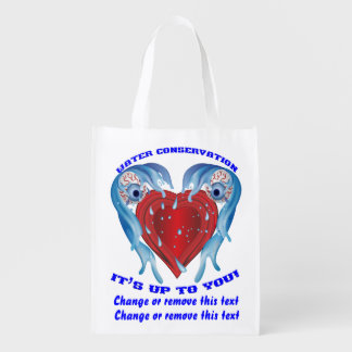 Conservation Water logo Reusable Grocery Bags