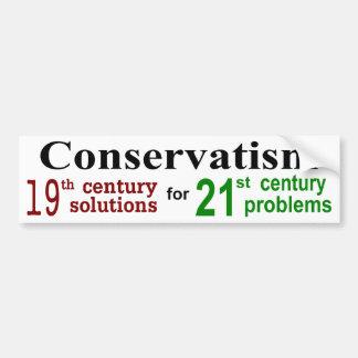 Conservatism 19 bumper sticker