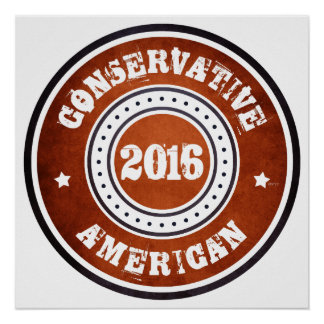 Conservative American Poster