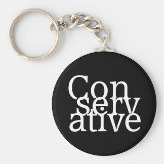 Conservative Basic Round Button Keychain
