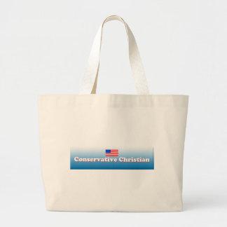Conservative Christian Jumbo Tote Bag