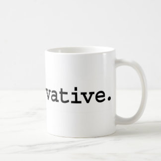 conservative. coffee mug