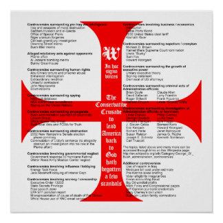 Conservative Crusade Scandals poster