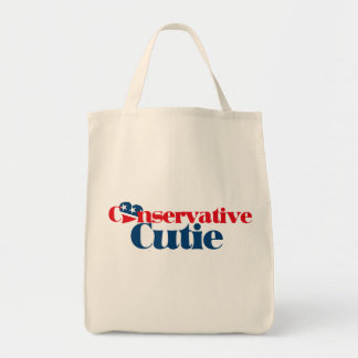 Conservative Cutie Grocery Tote Bag