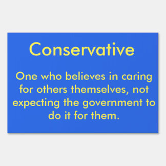 Conservative defined sign