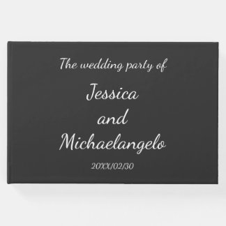 Conservative, Elegant Wedding Guest Book