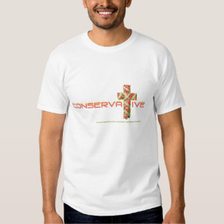 CONSERVATIVE FLOWER CROSS FOR GALS TEES