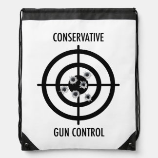 Conservative Gun Control Drawstring Backpack