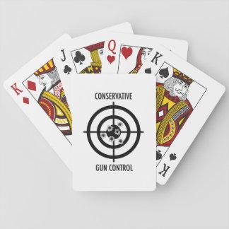 Conservative Gun Control Poker Deck