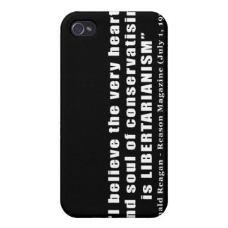 Conservative Libertarian Quote by President Reagan iPhone 4/4S Cases