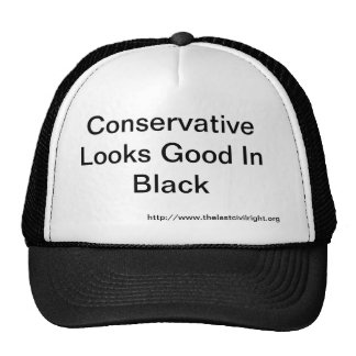 Conservative Looks Good In Black Hat