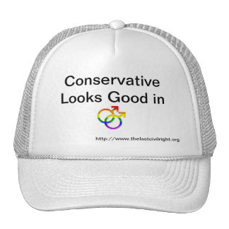 Conservative Looks Good In Pride Hat