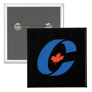 Conservative Party Logo Alternative 2 Inch Square Button