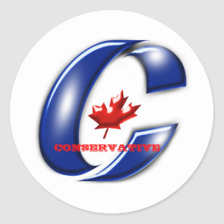 Conservative Party of Canada Political Merchandise Round Sticker