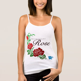 Conservative Rose White Tank Top