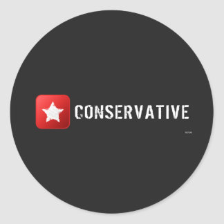 Conservative Star Classic Round Sticker