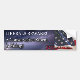 Conservative Storm Rising 1 Bumper Sticker