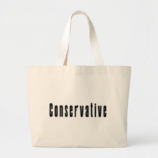 Conservative With A Gun Jumbo Tote Bag