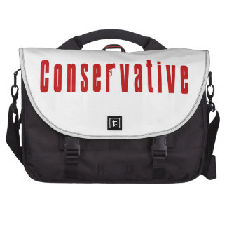 Conservative With A Gun (Red) Commuter Bag
