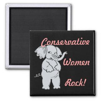 Conservative Women Rock Magnet