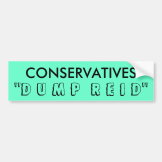 CONSERVATIVES BUMPER STICKER