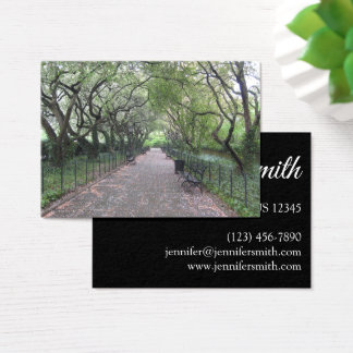 Conservatory Garden Central Park NYC Photography Business Card